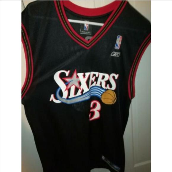 huge inventory 0cb7a cc537 Reebok Philadelphia 76ers Allen Iverson Jersey